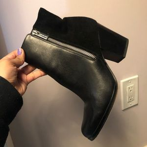 Michael Kors Leather-Suede Bootie